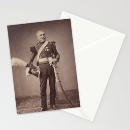 Vintage Photographic Print - M. Dreuse of the 2nd Light Horse Lancers of the Guard (1858) Stationery Cards