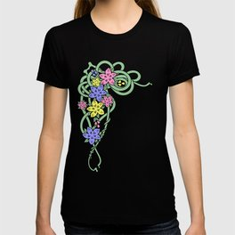 Abstract flowers corner T-shirt