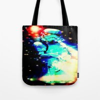 storm trooper Tote Bags featuring STORM TROOPER by shannon's art space