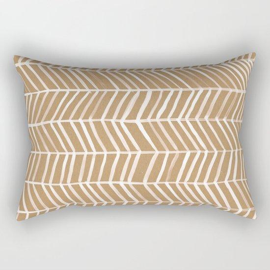 Kraft Herringbone Rectangular Pillow