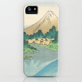 Katsushika Hokusai - Mt Fuji Reflection iPhone Case