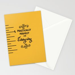 Practically perfect in every way mary poppins measuring tape..  Stationery Cards