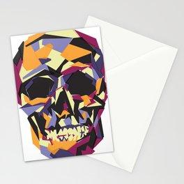 Black and Orange Skull Stationery Cards