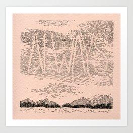 Sky Writing: Always Art Print