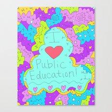 I Love Public Education Canvas Print