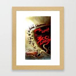 Squidtoons - 300 Likes Framed Art Print