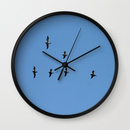 Flight formation Wall Clock