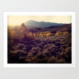 October Sunset at Salida Art Print