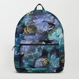 """Baroque floral with bugs"" Backpack"