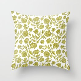 Tribal Baroque Roses - Sean Martorana Throw Pillow