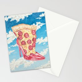 No Boys, Just Pizza Stationery Cards
