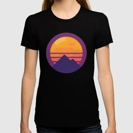 Miami Retro Pyramid - Retrowave T-shirt
