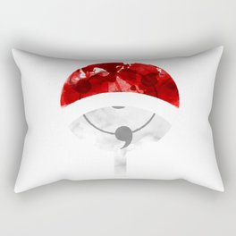 uchiha watercolor simbol digital Rectangular Pillow