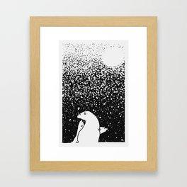 Art print: The Polar bear family and the Snow Framed Art Print