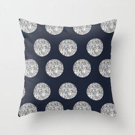 Glitter Pois Throw Pillow
