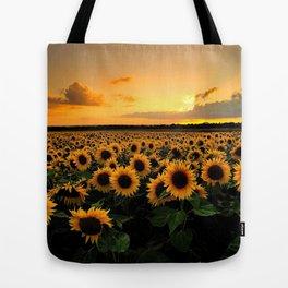 Sunflower field Tote Bag