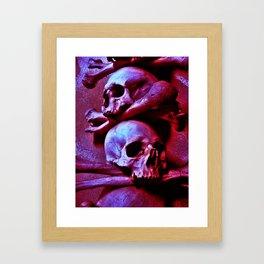 Skulls and Crossed Bones Framed Art Print