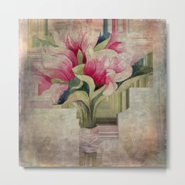 magnolias - grungy -2- Metal Print