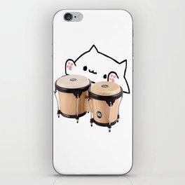 Bongo Cat Cute and funny meme iPhone Skin