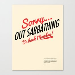 Out Sabbathing Canvas Print