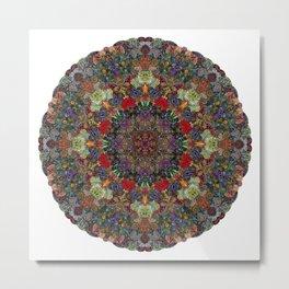 Hallucination Mandala 3 Metal Print