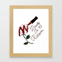 BeautyIsAReligion `Rose Lippy` Framed Art Print