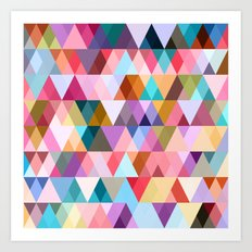 Triangle Mix #5 Art Print