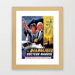 The Diabolical Doctor Mabuse Framed Art Print