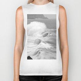 """Ocean Waves """"Tres Tubos"""" Biker Tank"""