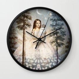 Fille en Aiguilles Wall Clock