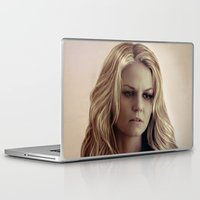 emma stone Laptop & iPad Skins featuring Emma by LindaMarieAnson