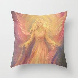 Angel Light Love - Spiritual painting Throw Pillow