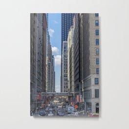 City Corridor Metal Print