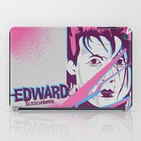 tim shumate iPad Cases featuring Tim Burton's Edward Scissorhands by Luis Urrutia