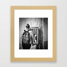 The Phone Call Framed Art Print