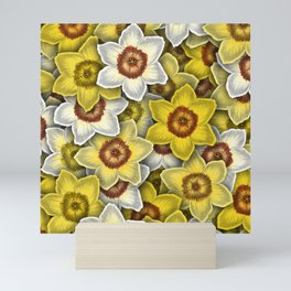Daffodils pattern Mini Art Print