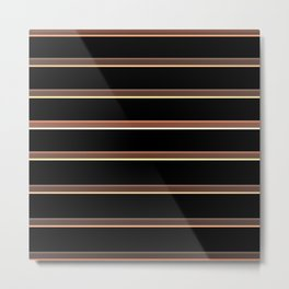 Horizontal lines Metal Print