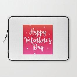 Happy Valentine's Day Hearts Laptop Sleeve