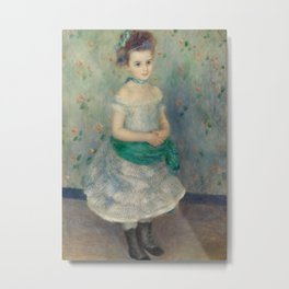 Portrait of Jeanne Durand-Ruel Metal Print