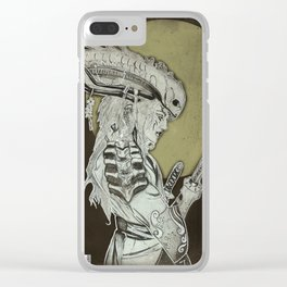 Xenomorph Samurai Clear iPhone Case