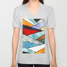 Angles of Textured Colors Unisex V-Neck
