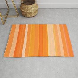 Tangerine Cream Stripes Rug
