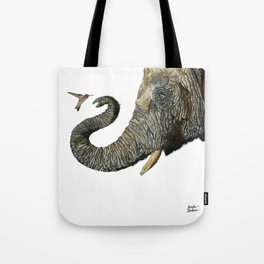 Elephant Cyril And Hummingbird Ayre 2 Tote Bag