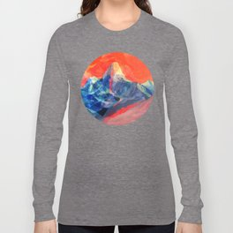 Abstract Mt. Everest Long Sleeve T-shirt