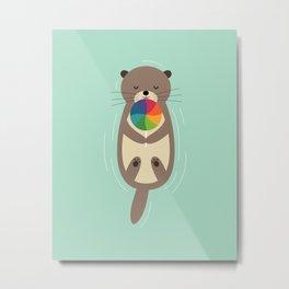 Sweet Otter Metal Print