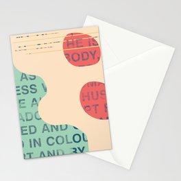 lie cold Stationery Cards
