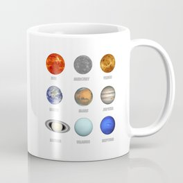Planets of The Solar System Coffee Mug