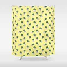 Cute Cactus Yellow Pattern Shower Curtain