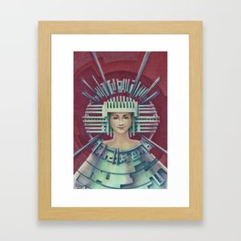 """Portrait with silver chullo"" Framed Art Print"