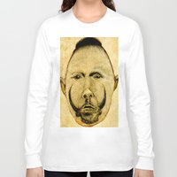 tribal Long Sleeve T-shirts featuring tribal  by Joe Ganech